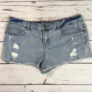 Victoria secret boyfriend distressed jean shorts